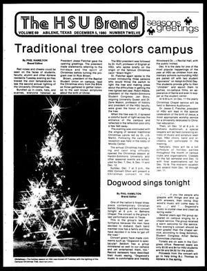 The HSU Brand (Abilene, Tex.), Vol. 69, No. 12, Ed. 1, Friday, December 5, 1980