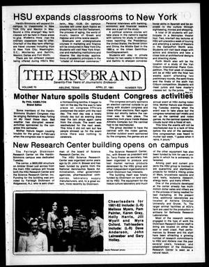 Primary view of object titled 'The HSU Brand (Abilene, Tex.), Vol. 70, No. 11, Ed. 1, Monday, April 27, 1981'.