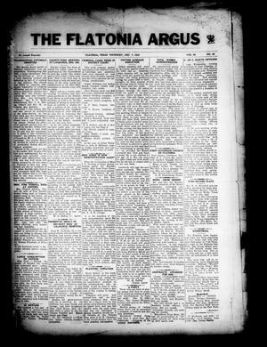 Primary view of The Flatonia Argus (Flatonia, Tex.), Vol. 58, No. 49, Ed. 1 Thursday, December 7, 1933