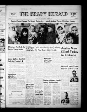 The Brady Herald (Brady, Tex.), Vol. 22, No. 5, Ed. 1 Tuesday, December 8, 1964