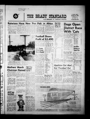 The Brady Standard and Heart O' Texas News (Brady, Tex.), Vol. 55, No. 13, Ed. 1 Friday, January 10, 1964