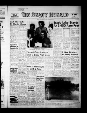 Primary view of object titled 'The Brady Herald (Brady, Tex.), Vol. 21, No. 47, Ed. 1 Tuesday, September 29, 1964'.