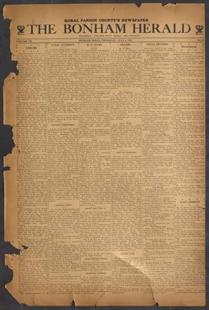 Primary view of The Bonham Herald (Bonham, Tex.), Vol. 7, No. 88, Ed. 1 Thursday, July 5, 1934