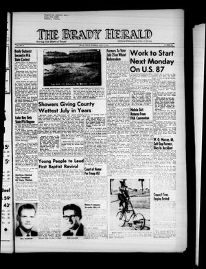 Primary view of object titled 'The Brady Herald (Brady, Tex.), Vol. 16, No. 40, Ed. 1 Tuesday, July 21, 1959'.