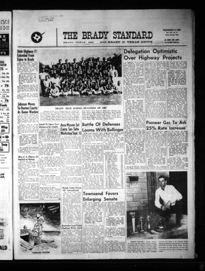 Primary view of object titled 'The Brady Standard and Heart O' Texas News (Brady, Tex.), Vol. 56, No. 47, Ed. 1 Friday, September 3, 1965'.