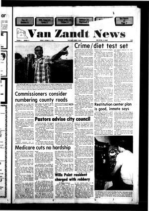 Primary view of Van Zandt News (Wills Point, Tex.), Vol. 2, No. 19, Ed. 1 Sunday, October 16, 1983