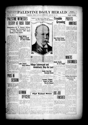Primary view of Palestine Daily Herald (Palestine, Tex), Vol. 12, No. 111, Ed. 1 Saturday, January 10, 1914