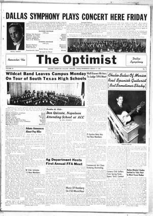 Primary view of object titled 'The Optimist (Abilene, Tex.), Vol. 35, No. 21, Ed. 1, Wednesday, March 17, 1948'.