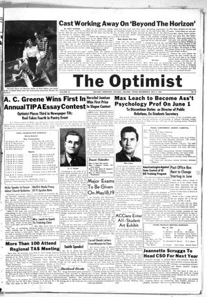 Primary view of object titled 'The Optimist (Abilene, Tex.), Vol. 35, No. 27, Ed. 1, Wednesday, May 5, 1948'.