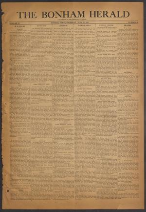Primary view of The Bonham Herald (Bonham, Tex.), Vol. 6, No. 49, Ed. 1 Thursday, June 22, 1933