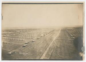 Primary view of object titled '[Aerial Photograph of Camp Hulen]'.