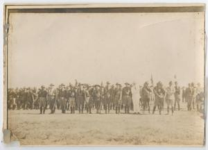 Primary view of object titled '[Photograph of a Guard Line]'.