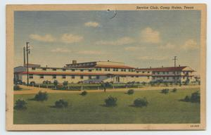 [Postcard of the Service Club at Camp Hulen]