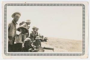 [Photograph of Troops with a .30 Caliber Machine Gun]