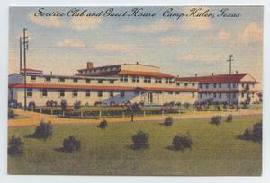 [Postcard of the Service Club and Guest House at Camp Hulen]