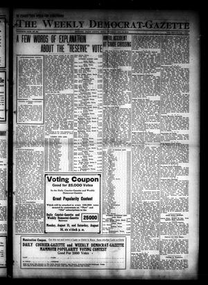 Primary view of object titled 'The Weekly Democrat-Gazette (McKinney, Tex.), Vol. 30, No. 28, Ed. 1 Thursday, August 14, 1913'.