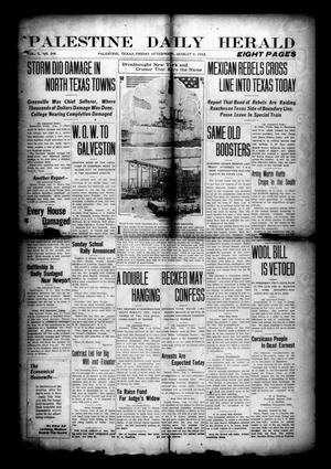Primary view of object titled 'Palestine Daily Herald (Palestine, Tex), Vol. 10, No. 298, Ed. 1 Friday, August 9, 1912'.