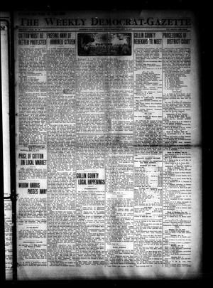 Primary view of object titled 'The Weekly Democrat-Gazette (McKinney, Tex.), Vol. 30, No. 33, Ed. 1 Thursday, September 18, 1913'.