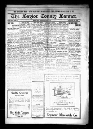 The Baylor County Banner. (Seymour, Tex.), Vol. 27, No. 50, Ed. 1 Thursday, September 7, 1922