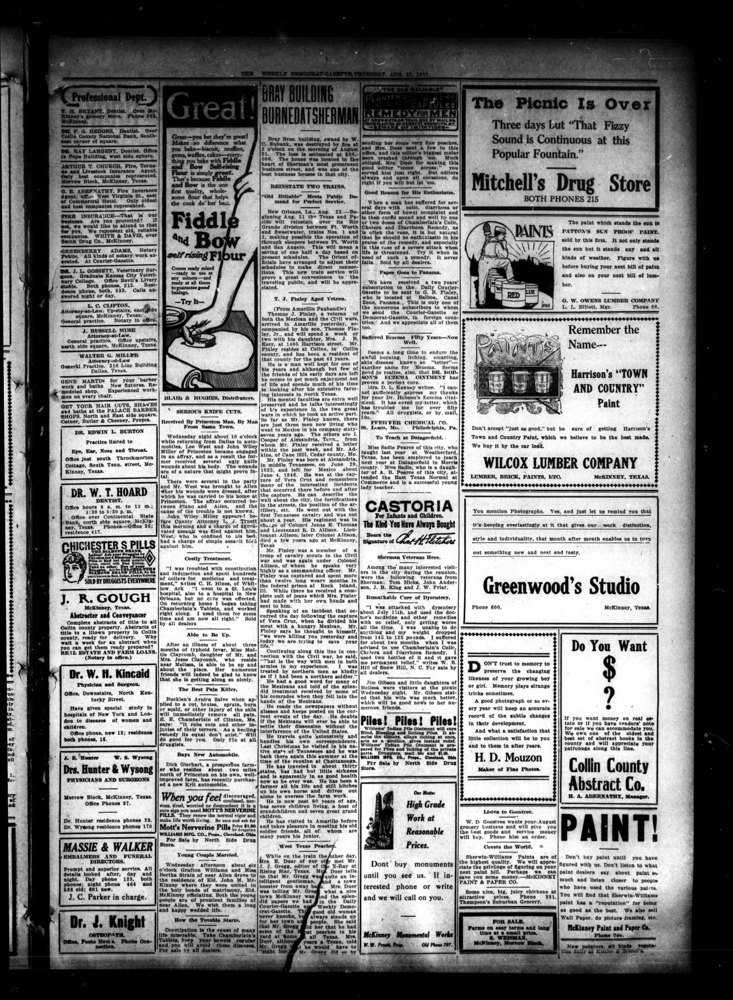 The Weekly Democrat-Gazette (McKinney, Tex.), Vol. 30, No. 30, Ed. 1 Thursday, August 28, 1913                                                                                                      [Sequence #]: 3 of 16