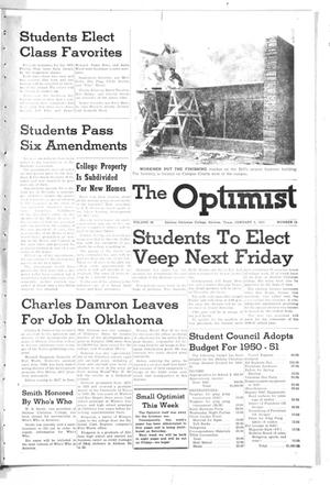 Primary view of object titled 'The Optimist (Abilene, Tex.), Vol. 38, No. 15, Ed. 1, Friday, January 5, 1951'.
