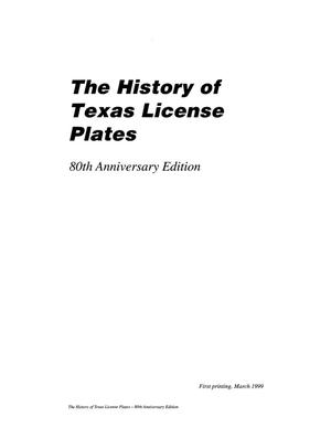 The History of Texas License Plates