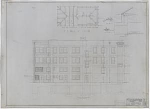 Radford Store and Office Building, Abilene, Texas: East Elevation & Skylight, Plans For a Store and Office Building for Mr. J. M. Radford, Abilene, Texas: Sheet 17, Radford-Clinton Building, Abilene, Texas, Office Buildings, Commercial Buildings