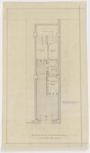 Primary view of object titled 'Radford Store and Office Building, Abilene, Texas: Revised Plan of Elevator Hatch'.