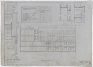 Radford Store and Office Building, Abilene, Texas: Transverse Elevation, Plans For a Store and Office Building for Mr. J. M. Radford, Abilene, Texas: Sheet 18, Radford-Clinton Building, Abilene, Texas, Office Buildings, Commercial Buildings