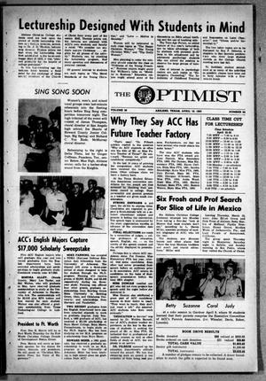 The Optimist (Abilene, Tex.), Vol. 50, No. 24, Ed. 1, Friday, April 19, 1963