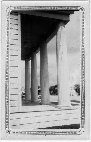 Primary view of object titled '[Front Porch of St. Pauls Church - Freeport, TX.]'.