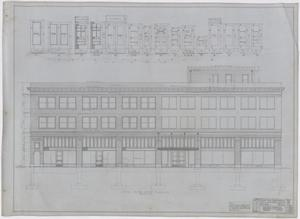 Radford Store and Office Building, Abilene, Texas: Elevation & Door Schedule, Plans For a Store and Office Building for Mr. J. M. Radford, Abilene, Texas: Sheet 16, Radford-Clinton Building, Abilene, Texas, Office Buildings, Commercial Buildings
