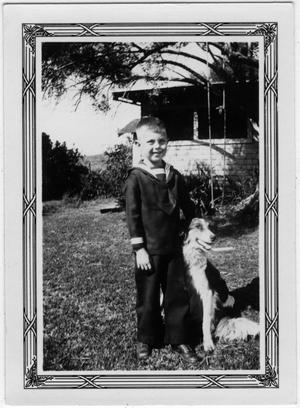 Primary view of object titled '[Courtney Howell and his Dog]'.