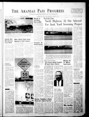 Primary view of object titled 'The Aransas Pass Progress (Aransas Pass, Tex.), Vol. 57, No. 42, Ed. 1 Wednesday, January 12, 1966'.