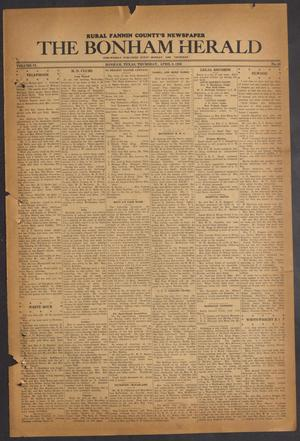 Primary view of object titled 'The Bonham Herald (Bonham, Tex.), Vol. 9, No. 64, Ed. 1 Thursday, April 9, 1936'.