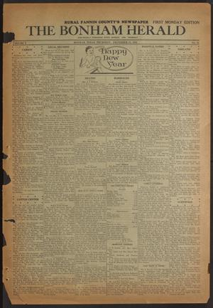 Primary view of object titled 'The Bonham Herald (Bonham, Tex.), Vol. 10, No. 36, Ed. 1 Thursday, December 31, 1936'.