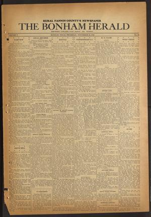 Primary view of The Bonham Herald (Bonham, Tex.), Vol. 10, No. 26, Ed. 1 Thursday, November 26, 1936
