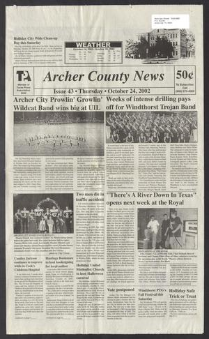 Primary view of object titled 'Archer County News (Archer City, Tex.), No. 43, Ed. 1 Thursday, October 24, 2002'.