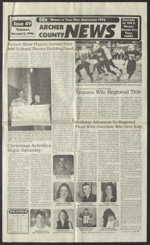 Archer County News (Archer City, Tex.), No. 49, Ed. 1 Thursday, December 5, 1996
