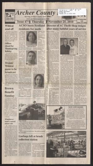 Archer County News (Archer City, Tex.), No. 47, Ed. 1 Thursday, November 25, 2010