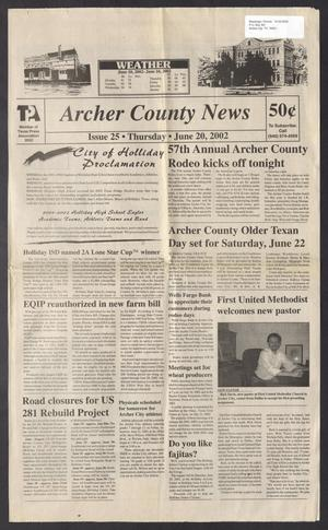 Primary view of object titled 'Archer County News (Archer City, Tex.), No. 25, Ed. 1 Thursday, June 20, 2002'.