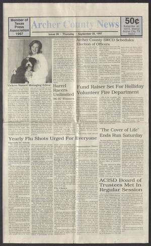 Archer County News (Archer City, Tex.), No. 39, Ed. 1 Thursday, September 25, 1997