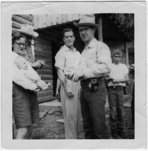 Primary view of object titled '[Virginia Barnhart, Claire, C.E Leon, John N. Barnhart, and R.K. Blackshear Jr. ]'.