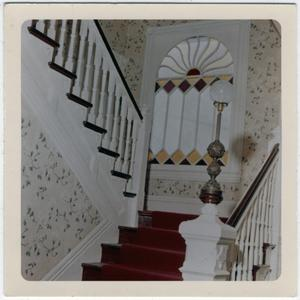 Primary view of object titled '[Stairway of an Unidentified Home]'.