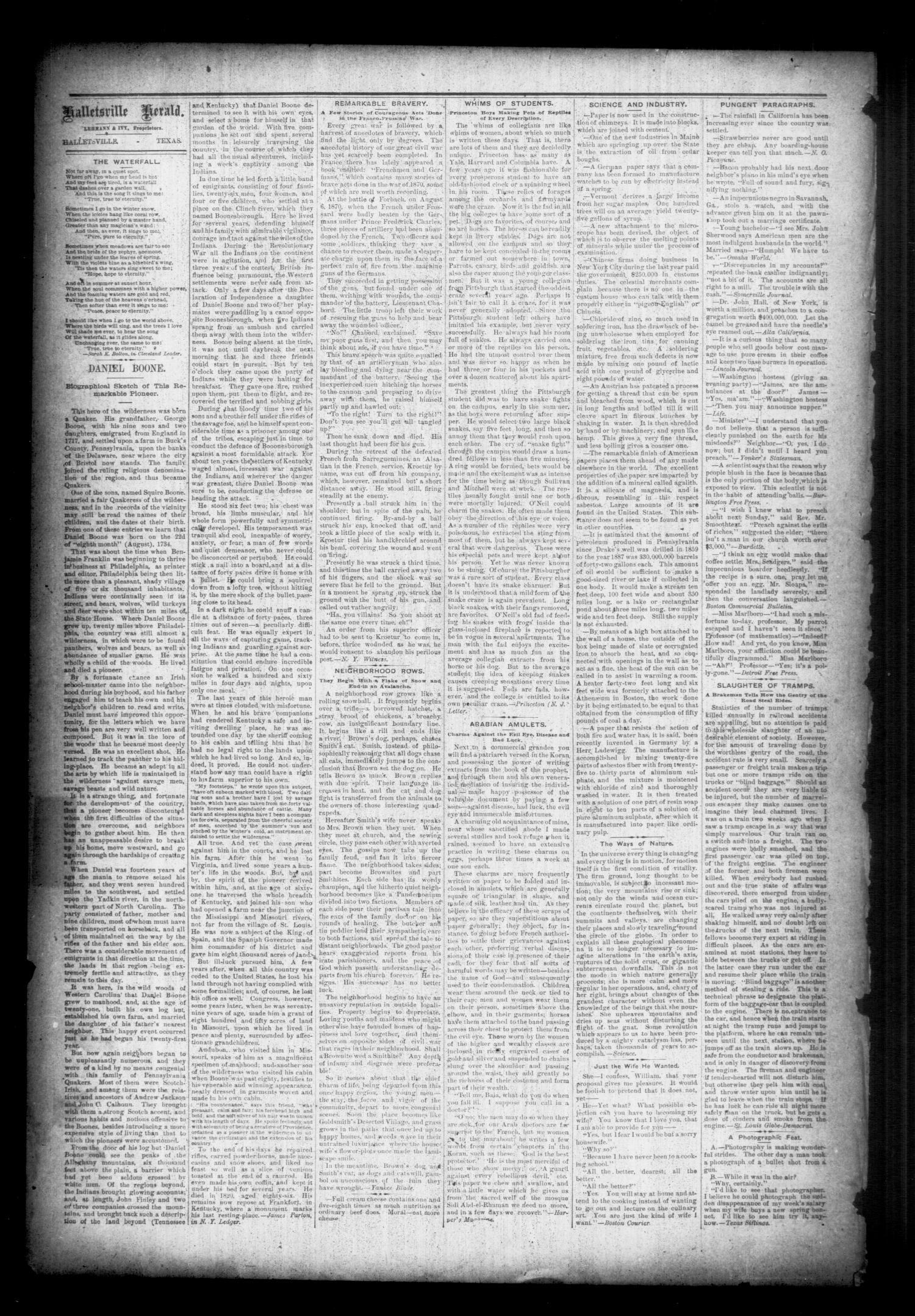 Halletsville Herald  (Hallettsville, Tex ), Vol  17, No  39