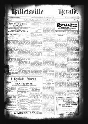 Halletsville Herald. (Hallettsville, Tex.), Vol. 28, No. 14, Ed. 1 Thursday, May 4, 1899