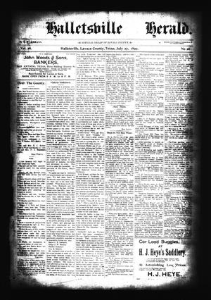 Halletsville Herald. (Hallettsville, Tex.), Vol. 28, No. 26, Ed. 1 Thursday, July 27, 1899