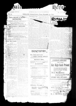 Halletsville Herald. (Hallettsville, Tex.), Vol. 27, No. [48], Ed. 1 Thursday, December 29, 1898