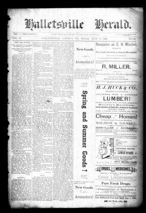 Halletsville Herald. (Hallettsville, Tex.), Vol. 20, No. 29, Ed. 1 Thursday, June 11, 1891