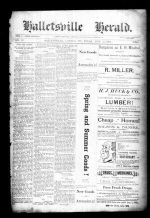Halletsville Herald. (Hallettsville, Tex.), Vol. 20, No. 31, Ed. 1 Thursday, June 25, 1891